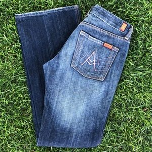 """7 for all mankind """"A"""" pocket jeans. Size 28"""